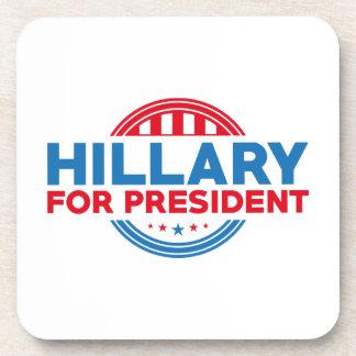Hillary para el presidente posavasos de bebida