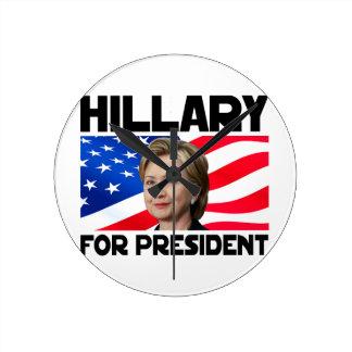 Hillary para el presidente reloj