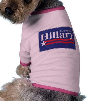 ¡Hillary para el presidente! Camisa De Perrito