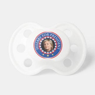 Hillary para el presidente - sello chupetes