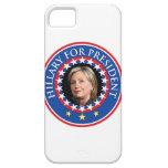 Hillary para el presidente - sello iPhone 5 Case-Mate coberturas