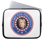 Hillary para el presidente - sello manga computadora