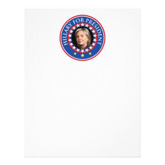 Hillary para el presidente - sello plantilla de membrete