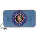 Hillary para el presidente - sello mp3 altavoz