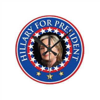 Hillary para el presidente - sello relojes