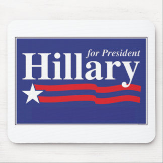 ¡Hillary para el presidente! Tapetes De Ratón