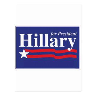 ¡Hillary para el presidente! Postal