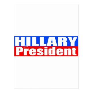 Hillary para el presidente tarjetas postales