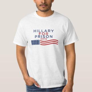 Hillary para la camiseta 2016 de la prisión remeras