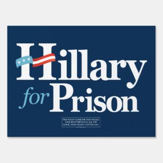 Hillary para la muestra de la yarda de prisión cartel