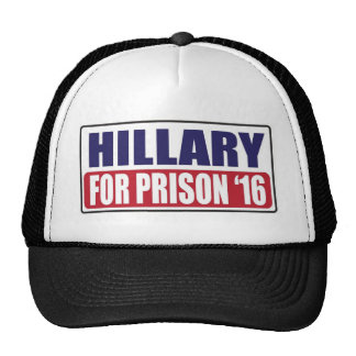 Hillary para la prisión 2016 gorros bordados
