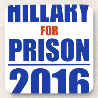 Hillary para la prisión 2016 posavasos de bebidas