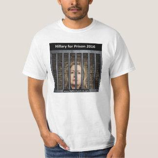 Hillary para la prisión 2016 remeras