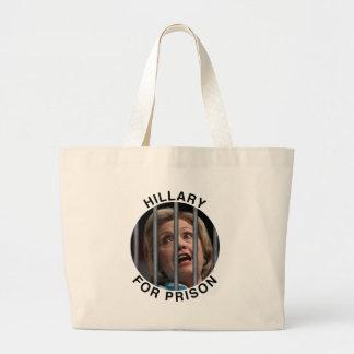 Hillary para la prisión bolsa tela grande
