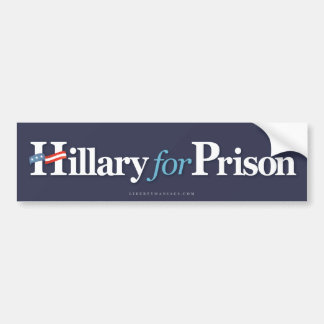 Hillary para la prisión pegatina para auto