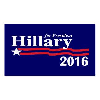 Hillary para las tarjetas 2016 del presidente visi tarjetas de visita