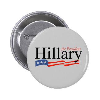 Hillary para presidente Button Pins