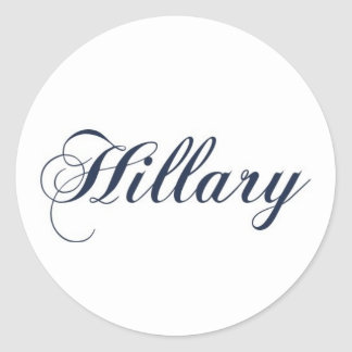 Hillary Pegatina Redonda