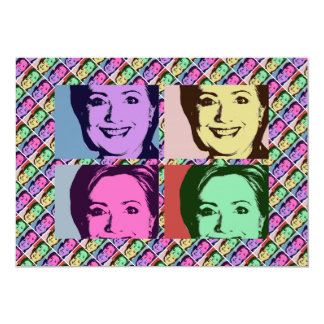 HILLARY POP ART 2016 PERSONALIZED INVITATIONS