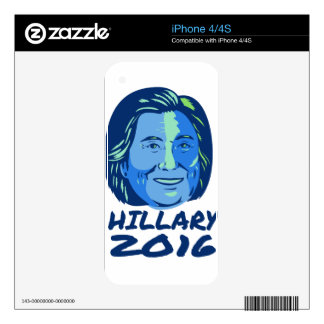 Hillary President 2016 Retro Decals For The iPhone 4S