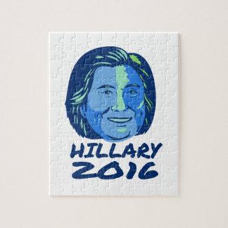 Hillary President 2016 Retro Jigsaw Puzzle