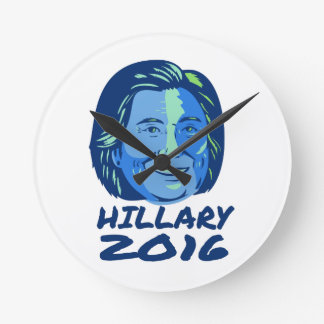 Hillary President 2016 Retro Round Clock