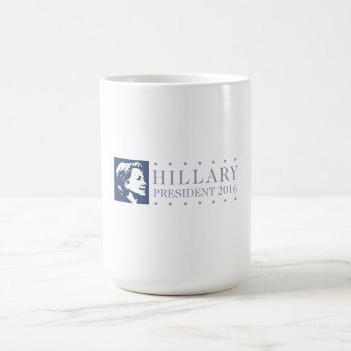 Hillary - presidente 2016 taza clásica
