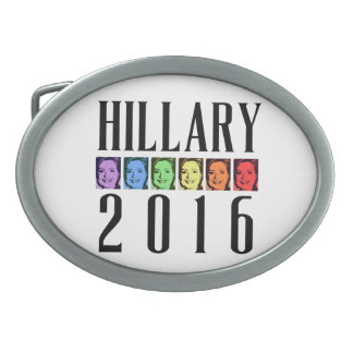 HILLARY PRIDE 2016 -.png Oval Belt Buckles
