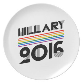 HILLARY PRIDE 2016 VINTAGE PARTY PLATES