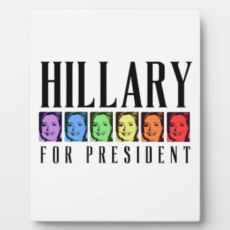 HILLARY PRIDE FOR PRESIDENT DISPLAY PLAQUES