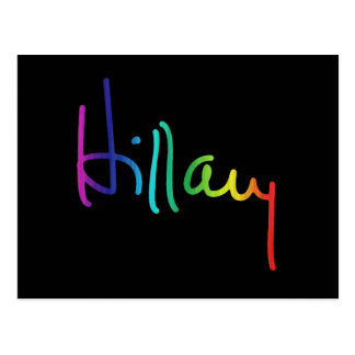 Hillary Pride Rainbow -.png Postcard
