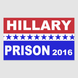 Hillary Prison 2016 popular political stickers