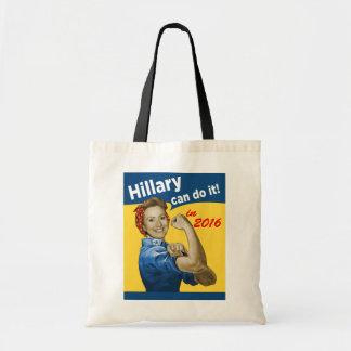 Hillary puede hacerlo 2016 bolsa tela barata