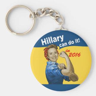 Hillary puede hacerlo 2016 llavero redondo tipo pin