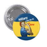 Hillary puede hacerlo 2016 pin redondo de 1 pulgada