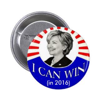 HIllary Puedo ganar en 2016 el botón Pin