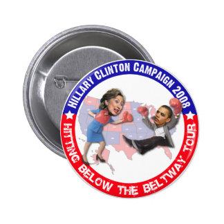 Hillary que golpea debajo del botón del cinturón d pins
