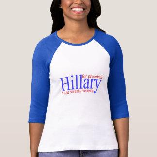 Hillary que hace feminidad presidencial camisas