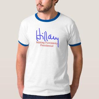 Hillary que hace feminidad presidencial playera