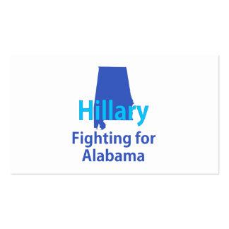 Hillary que lucha para Alabama Tarjetas De Visita