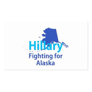 Hillary que lucha para Alaska Tarjetas De Visita