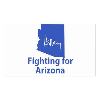 Hillary que lucha para Arizona Tarjetas De Visita