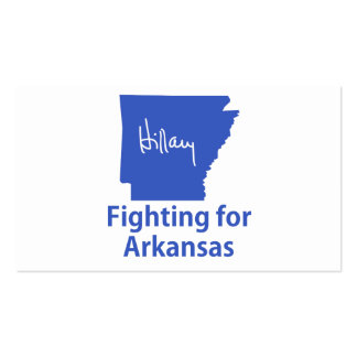 Hillary que lucha para Arkansas Tarjetas De Visita