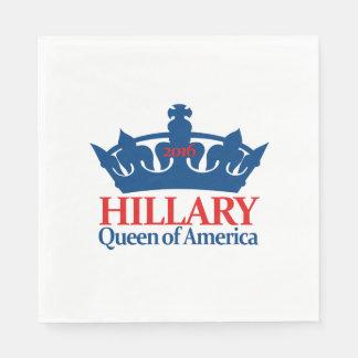 Hillary, Queen of America Paper Napkin