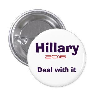 Hillary R Clinton 2016 1 Inch Round Button