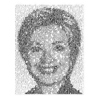 Hillary Rendered w/1st Amendment - Post Card
