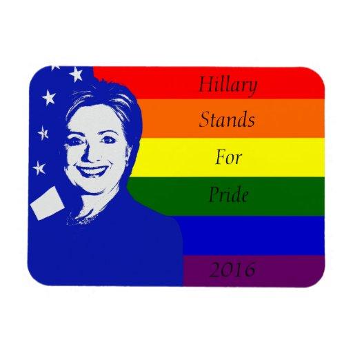 Hillary representa orgullo iman flexible