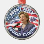 Hillary Rodham Clinton 2016 Christmas Tree Ornament
