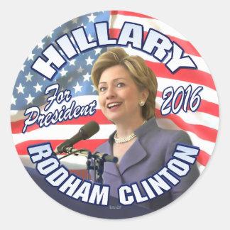 Hillary Rodham Clinton 2016 Etiquetas Redondas