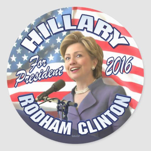 Hillary Rodham Clinton 2016 Round Stickers